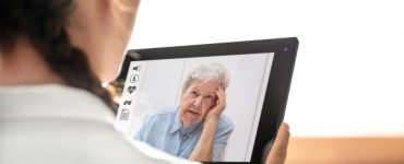 Doctor on Virtual Telemedicine Visit With Patient