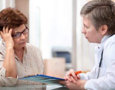 Doctor engaging with a difficult patient